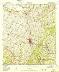 Elgin Texas Historical topographic map, 1:62500 scale, 15 X 15 Minute, Year 1950