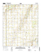 Eola Texas Current topographic map, 1:24000 scale, 7.5 X 7.5 Minute, Year 2016 from Texas Map Store
