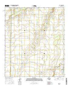 Eola Texas Current topographic map, 1:24000 scale, 7.5 X 7.5 Minute, Year 2016