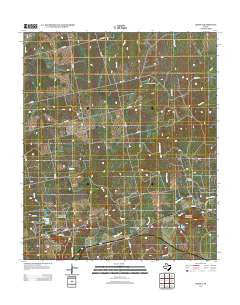 Eskota Texas Historical topographic map, 1:24000 scale, 7.5 X 7.5 Minute, Year 2012