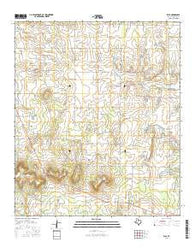Eula Texas Current topographic map, 1:24000 scale, 7.5 X 7.5 Minute, Year 2016