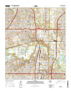 Euless Texas Current topographic map, 1:24000 scale, 7.5 X 7.5 Minute, Year 2016