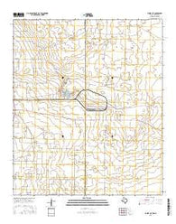 Eunice NE Texas Current topographic map, 1:24000 scale, 7.5 X 7.5 Minute, Year 2016