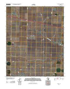 Everett Texas Historical topographic map, 1:24000 scale, 7.5 X 7.5 Minute, Year 2010