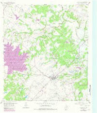 Fayetteville Texas Historical topographic map, 1:24000 scale, 7.5 X 7.5 Minute, Year 1958