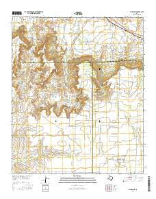 Fluvanna Texas Current topographic map, 1:24000 scale, 7.5 X 7.5 Minute, Year 2016