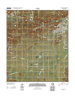 Fort Davis Texas Historical topographic map, 1:24000 scale, 7.5 X 7.5 Minute, Year 2012