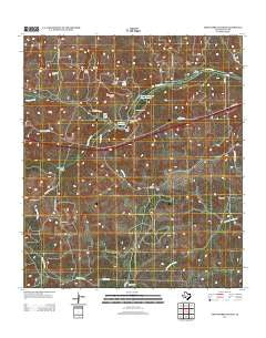 Fort Terrett Ranch Texas Historical topographic map, 1:24000 scale, 7.5 X 7.5 Minute, Year 2012