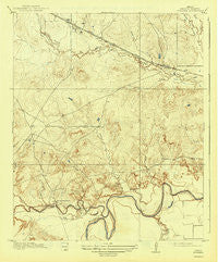 Fowlkes Texas Historical topographic map, 1:31680 scale, 7.5 X 7.5 Minute, Year 1919
