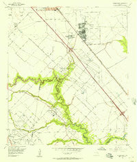 Friendswood Texas Historical topographic map, 1:24000 scale, 7.5 X 7.5 Minute, Year 1955