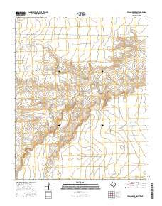 Frisco Creek West Texas Current topographic map, 1:24000 scale, 7.5 X 7.5 Minute, Year 2016
