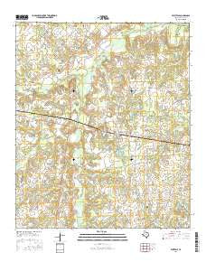 Fruitvale Texas Current topographic map, 1:24000 scale, 7.5 X 7.5 Minute, Year 2016