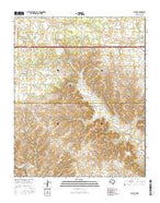Fuller Texas Current topographic map, 1:24000 scale, 7.5 X 7.5 Minute, Year 2016 from Texas Map Store