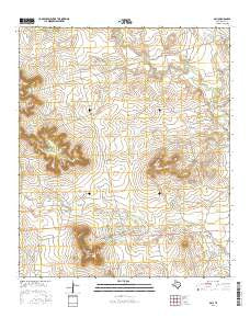 Gail Texas Current topographic map, 1:24000 scale, 7.5 X 7.5 Minute, Year 2016