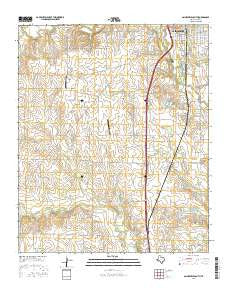 Gainesville South Texas Current topographic map, 1:24000 scale, 7.5 X 7.5 Minute, Year 2016