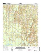 Galloway Texas Current topographic map, 1:24000 scale, 7.5 X 7.5 Minute, Year 2016 from Texas Map Store