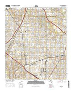 Garland Texas Current topographic map, 1:24000 scale, 7.5 X 7.5 Minute, Year 2016 from Texas Map Store
