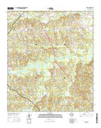 Gary Texas Current topographic map, 1:24000 scale, 7.5 X 7.5 Minute, Year 2016 from Texas Map Store