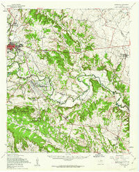 Gatesville Texas Historical topographic map, 1:62500 scale, 15 X 15 Minute, Year 1958