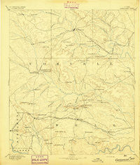 Gatesville Texas Historical topographic map, 1:125000 scale, 30 X 30 Minute, Year 1894