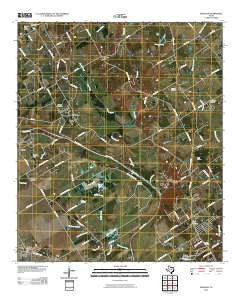 Gholson Texas Historical topographic map, 1:24000 scale, 7.5 X 7.5 Minute, Year 2010