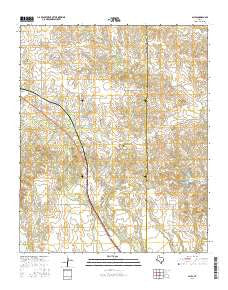 Giles Texas Current topographic map, 1:24000 scale, 7.5 X 7.5 Minute, Year 2016