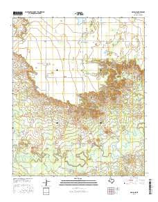 Gilliland Texas Current topographic map, 1:24000 scale, 7.5 X 7.5 Minute, Year 2016