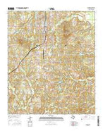 Gilmer Texas Current topographic map, 1:24000 scale, 7.5 X 7.5 Minute, Year 2016 from Texas Map Store