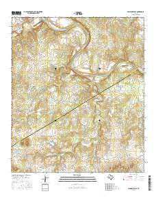 Glen Rose East Texas Current topographic map, 1:24000 scale, 7.5 X 7.5 Minute, Year 2016