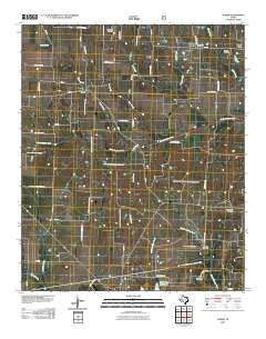 Gober Texas Historical topographic map, 1:24000 scale, 7.5 X 7.5 Minute, Year 2010