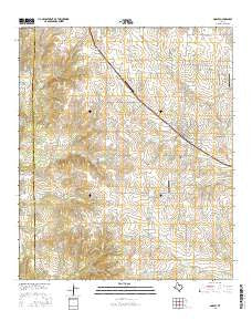 Godley Texas Current topographic map, 1:24000 scale, 7.5 X 7.5 Minute, Year 2016