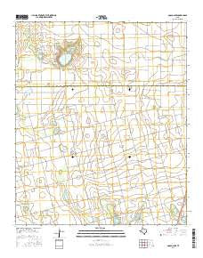 Gooch Lake Texas Current topographic map, 1:24000 scale, 7.5 X 7.5 Minute, Year 2016