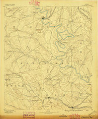 Granbury Texas Historical topographic map, 1:125000 scale, 30 X 30 Minute, Year 1889