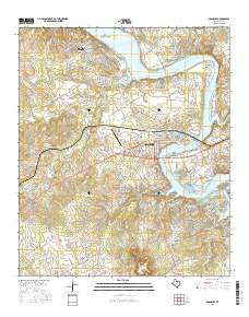 Granbury Texas Current topographic map, 1:24000 scale, 7.5 X 7.5 Minute, Year 2016