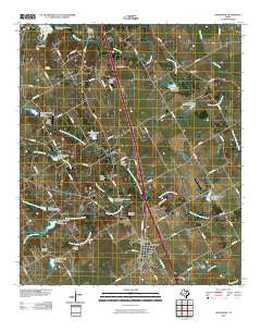 Grandview Texas Historical topographic map, 1:24000 scale, 7.5 X 7.5 Minute, Year 2010