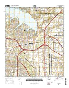 Grapevine Texas Current topographic map, 1:24000 scale, 7.5 X 7.5 Minute, Year 2016