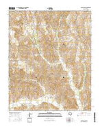 Griffin Ranch Texas Current topographic map, 1:24000 scale, 7.5 X 7.5 Minute, Year 2016 from Texas Map Store