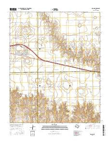 Groom Texas Current topographic map, 1:24000 scale, 7.5 X 7.5 Minute, Year 2016