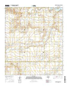 Gunsight Draw SE Texas Current topographic map, 1:24000 scale, 7.5 X 7.5 Minute, Year 2016