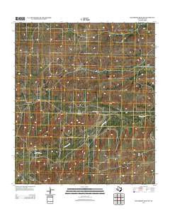 Hackberry Draw SW Texas Historical topographic map, 1:24000 scale, 7.5 X 7.5 Minute, Year 2012