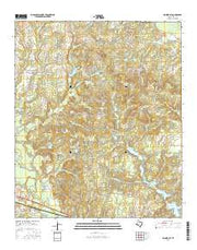 Hainesville Texas Current topographic map, 1:24000 scale, 7.5 X 7.5 Minute, Year 2016 from Texas Maps Store