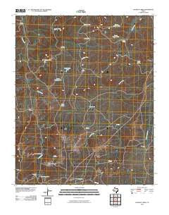 Halfway Creek Texas Historical topographic map, 1:24000 scale, 7.5 X 7.5 Minute, Year 2010