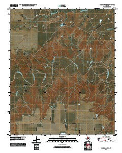 Halsell Ranch Texas Historical topographic map, 1:24000 scale, 7.5 X 7.5 Minute, Year 2010