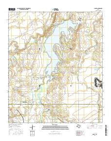 Hamby Texas Current topographic map, 1:24000 scale, 7.5 X 7.5 Minute, Year 2016