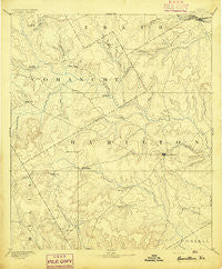 Hamilton Texas Historical topographic map, 1:125000 scale, 30 X 30 Minute, Year 1894