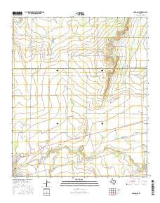 Hamlin NE Texas Current topographic map, 1:24000 scale, 7.5 X 7.5 Minute, Year 2016