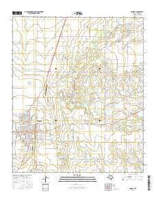 Haskell Texas Current topographic map, 1:24000 scale, 7.5 X 7.5 Minute, Year 2016