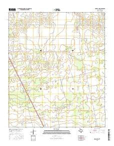 Hawley NE Texas Current topographic map, 1:24000 scale, 7.5 X 7.5 Minute, Year 2016