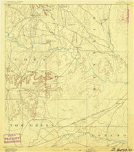 Hayrick Texas Historical topographic map, 1:125000 scale, 30 X 30 Minute, Year 1891