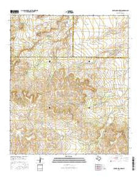 Hayrick Mountain Texas Current topographic map, 1:24000 scale, 7.5 X 7.5 Minute, Year 2016